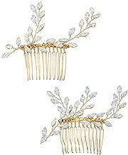 Miallo Weding Hair Comb Crystal Rhinestones Women Hair Comb Hair Accessories(2Pack)