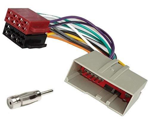 Sound Way Cavo Adattatore Connettore ISO, Adattatore Antenna, Compatibile con Ford Fiesta, Fusion, Mustang, Land Rover 2002-2005
