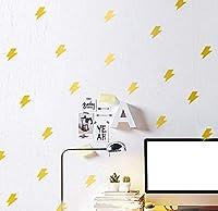 Wandtattoo Kreative Geschnitzte Kinderzimmerbeleuchtung Schlafzimmeraufkleber Entfernbares Gold