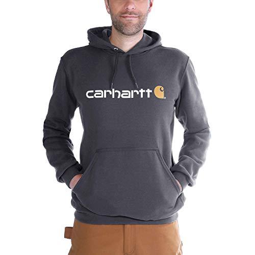 Carhartt Herren Signature Logo Midweight Sweatshirt Sweater, Carbon Heather, L