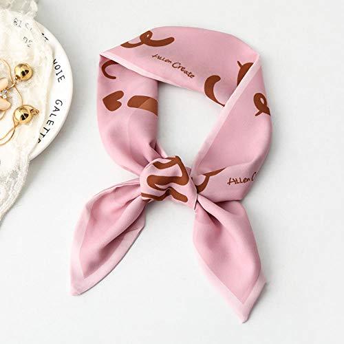 Diamants pour dames, petits foulards en soie, tempérament, élastiques pour cheveux, cous étroits, foulards professionnels - HELLO rose