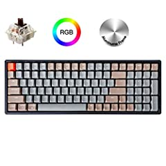 A 96% layout (100-key) wireless mechanical keyboard with a number pad in a compact design that's built for peak productivity and a great tactile typing experience. Connect the K4 with up to 3 devices via Bluetooth or to a single device with the USB T...