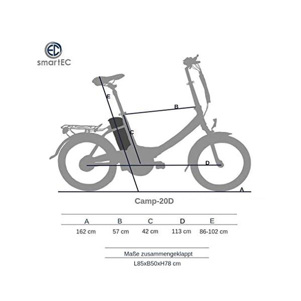 4125uH0YXCL. SS600  - smartEC Camp-20D Falt Pedelec/E-Bike Klapprad E-Faltrad 20 Zoll mit Samsung Li-Ion Akku 36V/13AH und tiefem Einstieg, max. Belastbarkeit bis zu 125 kg