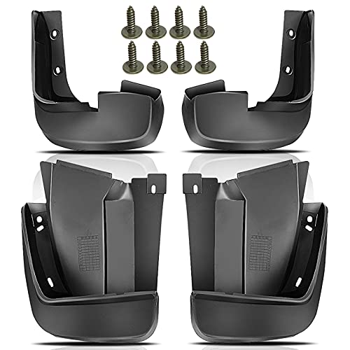 Set of 4 Front and Rear Side Mud Flaps Splash Guard Replacement for Honda Civic 2006-2011 Sedan