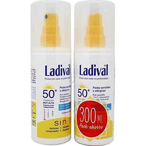 Ladival Spray ölfrei SPF50 150 ml (2 Einheiten) Speziell für: empfindliche oder allergische Haut, akneische Haut, Sonnenunverträglichkeit, Sonnenallergie.