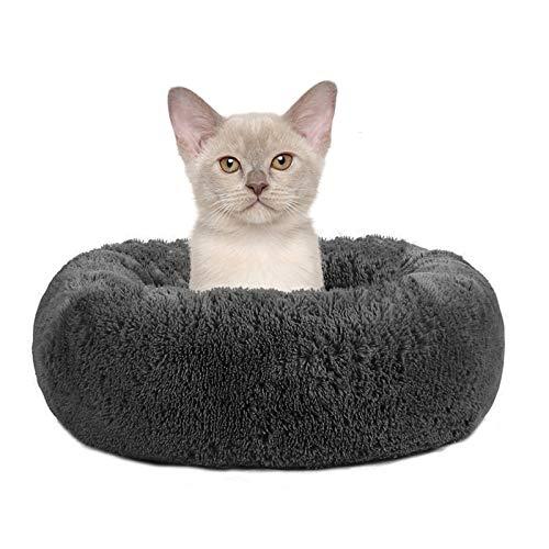Pejoye Round Donut Pet Bed, Dog Cat Plush Warm Cuddler Kennel Soft Puppy Sofa Sleeping Bag Orthopedic Relief Improved Sleep Anti-Slip Bottom Machine Washable