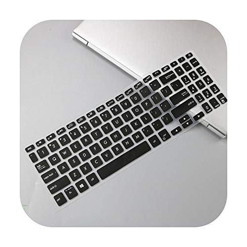 TOIT - Funda protectora de silicona para teclado Asus Vivobook 15 A512Fb A512F A512Fl A512 FL FB 15.6' - Negro