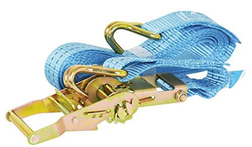 Carpoint 0928042 Spanngurte mit Ratsche und Haken 7 Meter, Blau