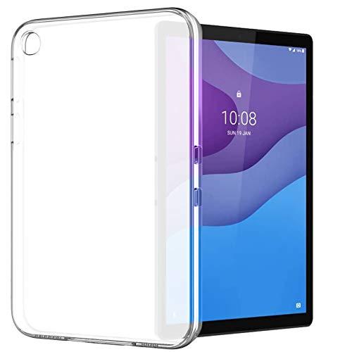 Yoowei Funda compatible con Lenovo Tab M8, funda trasera translúcida de TPU flexible silicona ultra fina y ligera funda para Tab M8