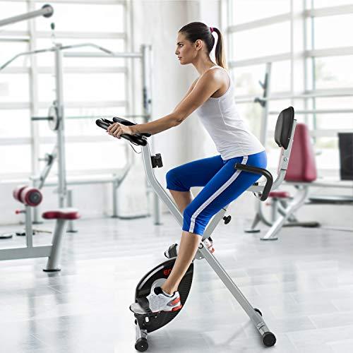 ENKEEO Heimtrainer Klappbar Fitnessbike Bild 6*