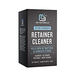 M3 Naturals Retainer Cleaners: 120 Tablets