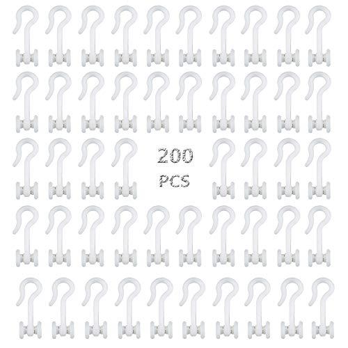 Gardinenrollen Für Vorhangschienen Gardinengleiter Vorhang Gleiter Faltenhaken U-Laufrollen Für U-Schienen Gardinenhaken Gleiter Für Gardinenschienen 8mm Profilschlitz Verschließbar Gardinenhaken