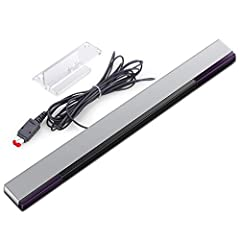 Wired infrared sensor bar compatible with Wii and Wii U consoles Includes stand with adhesive for easy attachment to tv, monitor or any smooth surface. Wii System Is Not Included More than 7ft cable ensures convenient placement of sensor bar, Sensor ...