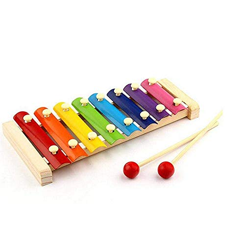 Detazhi Musikinstrument Spielzeug Holzrahmen Stil Klopfen Xylophone Kinder Kinder Musical Achtton Klavier lustige Pädagogische Spielzeug Geschenke (Farbe: Multicolor) (Color : Multicolor)