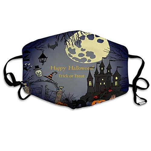 Atmungsaktive Sicherheit Anit Dust Halloween El1ements Dekorationen Kürbis Katze G1host Stunden Cas