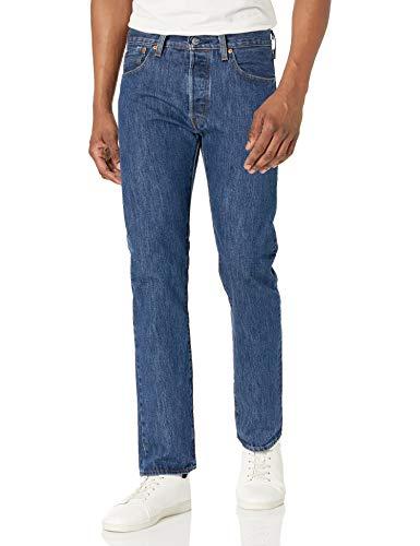 Levi's Men's 501 Original Fit Jeans, Dark Stonewash, 34W x 32L