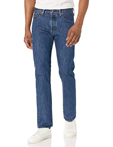 Levi's Men's 501 Original Fit Jeans, Dark Stonewash, 36W x 32L