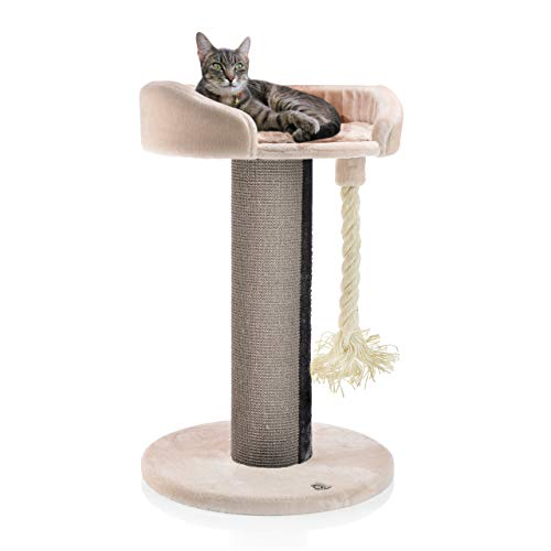 CanadianCat Company ® | Kratzbaum - Lounge Ontario XXL mit 20cmØ Sisalstamm, ideal auch für große und schwere Katzen wie z.B. Maincoon