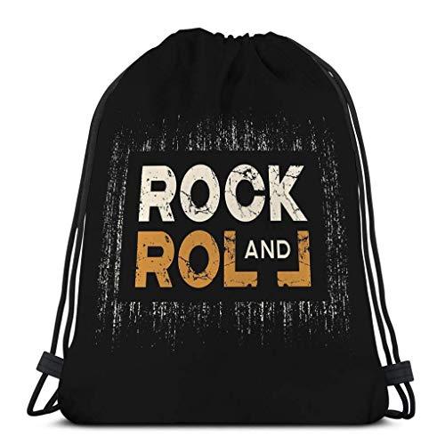 Cordon Sac à Dos Sac à Cordon Serrage Vêtements de rock roll occasionnels effet grunge effet grunge de vêtements rock roll Sac de Sport 36X43CM
