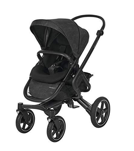 Bébé Confort NOVA 4W 'Nomad Black' - Cochecito Todo Terreno, desde el nacimiento hasta los 3,5 años, color negro