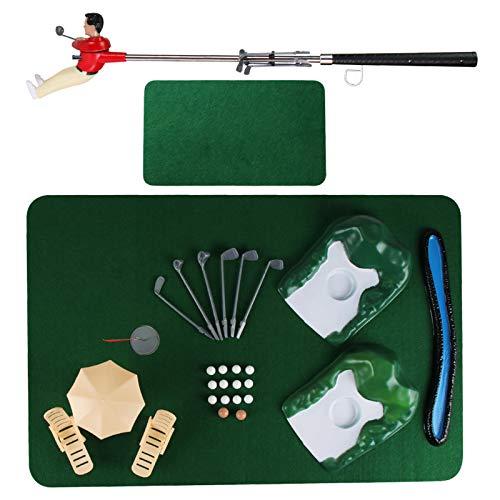 SANGSHI Minigolf, juego de golf para interiores, juego de interacción para padres y niños, divertido juego de golf para jugar en casa en el salón