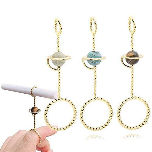 UPANV Vintage Ring Porta Cigarrillos Elegante Lady Finger Porta Cigarrillos Caballero Fumador Porta Cigarrillos Anillo, 0.78 Pulgadas, 3 Piezas
