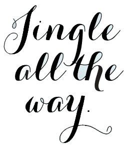 Legacy Innovations Jingle All The Way Christmas Black Decal Vinyl Sticker|Cars Trucks Vans Walls Laptop| Black |5.5 x 4.5 in|LLI703
