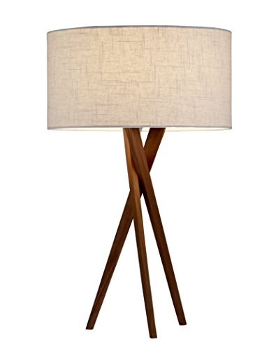 Walnut Metal Table Lamp - 9