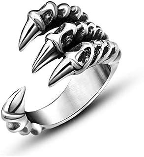 أنثى افتتاح شخصية مخلب الذيل الدائري للرجال الفضة والمجوهرات الاستبداد حادة