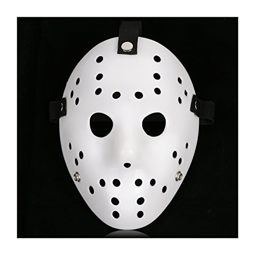 CASACLAUSI Jason Mask Cosplay Halloween Costume Mask Prop Horror Hockey (One Size, Pure White)