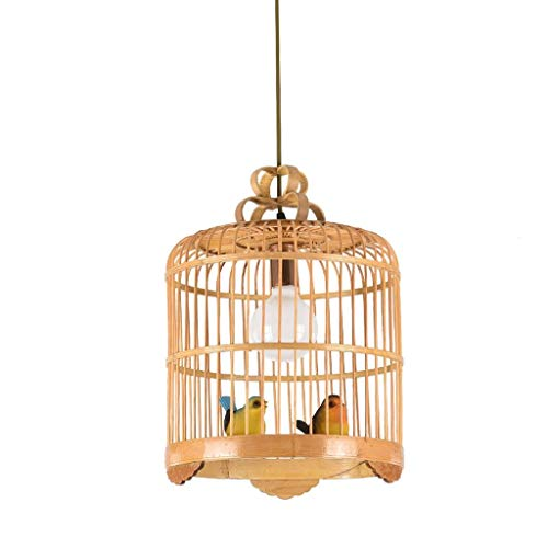 Lámpara de Techo Montaje en el techo interior luz de techo de estilo chino de bambú jaula de pájaros de la lámpara de café del restaurante de la lámpara de techo de iluminación pendiente lámpara de te
