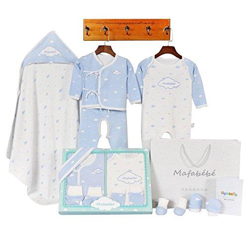 Mafabébé 玛珐贝贝 源自法国天然有机棉新款母婴用品初生宝宝秋冬保暖婴儿衣服帽子手脚套满月套装