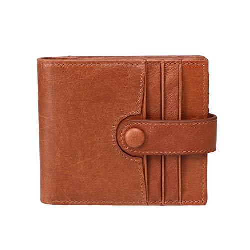 Portefeuille homme Brieftasche for Männer Leder Kreditkarteninhaber Dünne Reise Brieftasche RFID Blockieren Geschenke for Herren, Bruder Porte-feuille en cuire ( Farbe : Coffee , Size : 11x9.7x2cm )