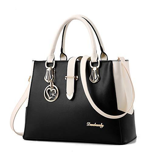 Damen Handtaschen Damen Persönlichkeit Kosmetiktasche groß Taschen Leder Moderne Damen Handtasche Gross Schultertasche Frauen Damen Handtasche Mehrfarbig gestreift Umhängetasche