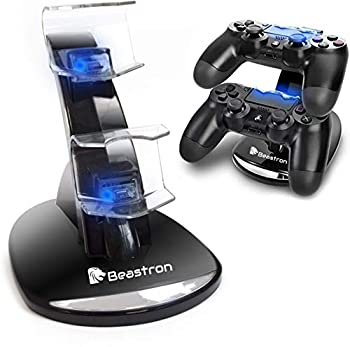 Beastron PS4 Controller Charging Station PS4 Controller Charger for Sony PlayStation 4 PS4/PS4 Pro/PS4 Slim Controllers