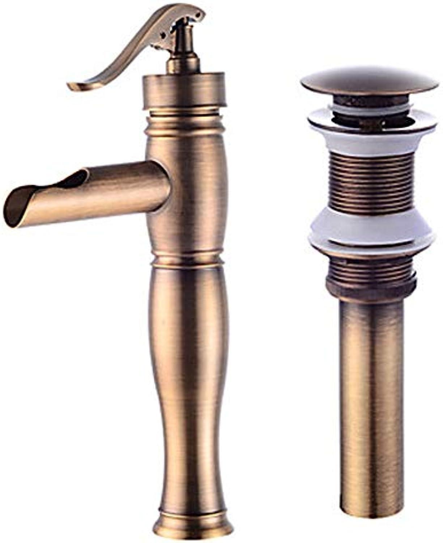Ayhuir Wasserhahnmontage - Weit Verbreitete Bronze-Mittelmontage Einhand-Einloch-Wasserhahn