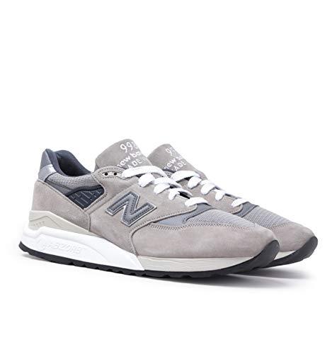 New Balance Hergestellt in USA 998 Stone Grey Suede Turnschuhen
