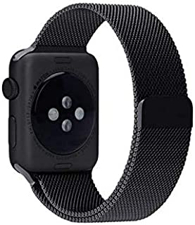 Milanese Magnetic Loop Stainless Steel Band For Apple Watch series4 44mm Black