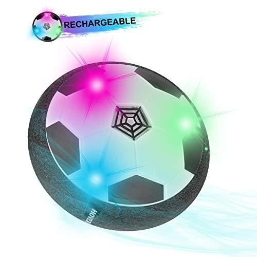 Herefun Air Power Soccer batería Recargable, Air Hover Football Coloridas Luces LED música, Juguete Balón de Futbol Flotante Niños Niñas Regalos Cumpleaños, Divertido para Interior Al Aire Libre
