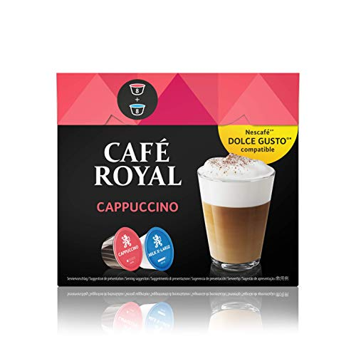 Café Royal Cappuccino, Kaffee, Kaffeekapsel Nescafé Dolce Gusto Kompatibel, 16 Kapseln
