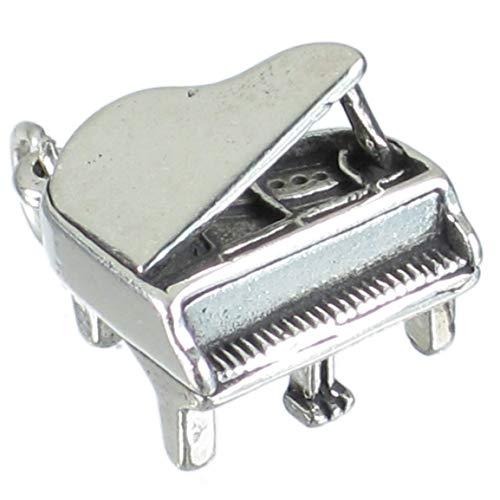 Grand Piano Klavier-Charm-Anhänger, Sterling Silber 925 SSLP1622