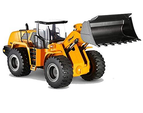 Top Race Calidad Modelos de fundición a presión Vehículos de construcción de metales pesados Tractor de juguete, escala 1:40, cargador frontal, TR-213D