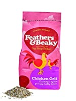 CHICKEN GRIT - Premium grit suitable for all chickens. Feathers & Beaky Chicken Grit doesn't contain anything artificial, aids digestion and general chicken health. FEEDING GUIDE - You can serve this healthy food to your chickens once or twice a day....