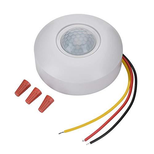 Socobeta Interruptor del Sensor de Movimiento de 360 ° Control fotosensible Interruptor del Detector de Movimiento PIR con retraso de Tiempo para luz de Techo LED