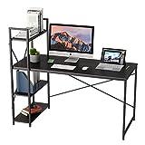 Bestier Computer Desk with Bookshelf P2 Wood...