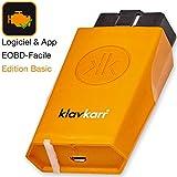 klavkarr 110 - Valise de Diagnostic Auto Multimarque OBD2 Bluetooth - 100% Français - Prise OBD Diagnostique Voiture Diesel & Essence sur Android/iPhone