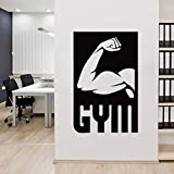 Muscle Sport Gym Sports Vinyl Sticker Sticker Decal Fitness Gymnasium Motivation 42 66cm