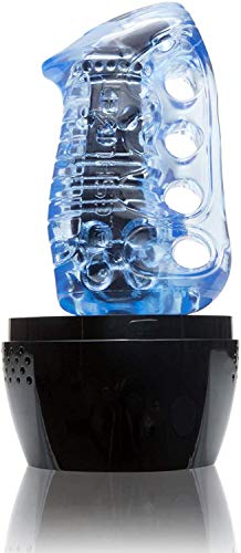 Fleshlight Fleshkins Grip | Bleu Ice avec ventilé Coque
