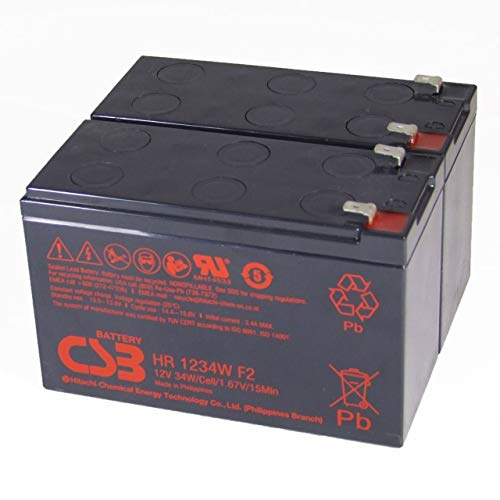 CSB Batería Plomo HR 1234W F2 reemplazo para APC RBC 33 12V 9Ah
