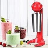 【𝐂𝐡𝐫𝐢𝐬𝐭𝐦𝐚𝐬 𝐆𝐢𝐟𝐭】 Milk Frother, Double Head Handheld Electric Milkshake Maker Mini Automatic Drink Cream Mixer Blender Egg Beater Whisk Milkshake for Kitchen Coffee Cooking Baking(Red)